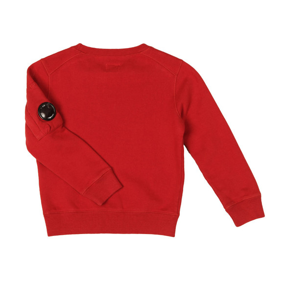 C.P. Company Undersixteen Boys Red Logo Viewfinder Sleeve Fleece Sweatshirt main image