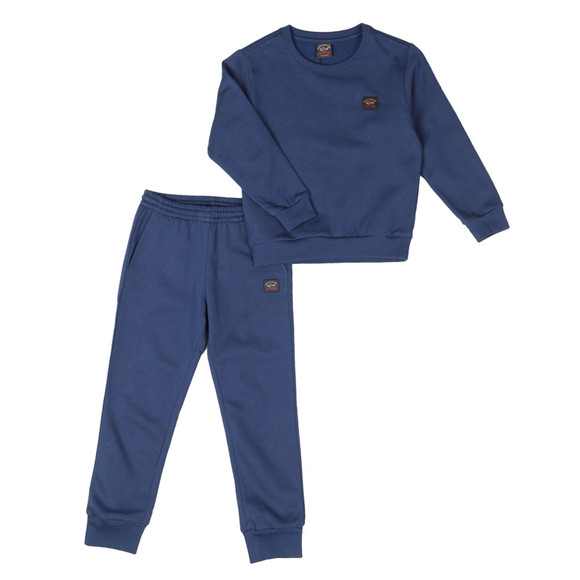 Paul & Shark Boys Blue Round Neck Tracksuit  main image