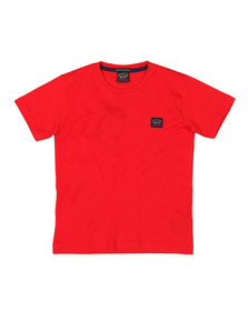 Paul & Shark Cadets Boys Red Plain Logo T-Shirt
