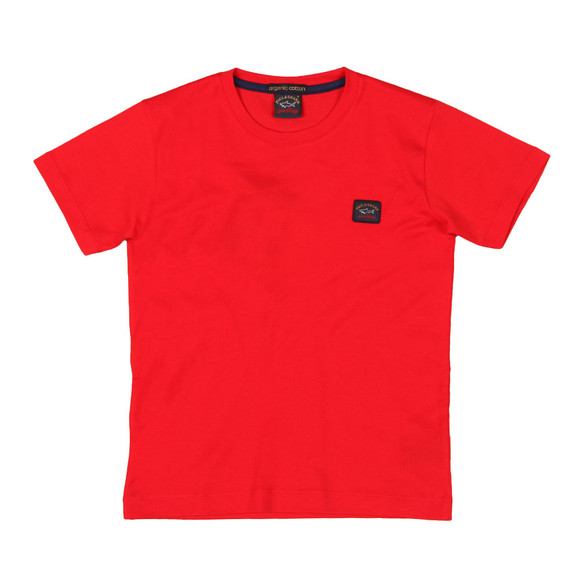 Paul & Shark Cadets Boys Red Plain Logo T-Shirt main image