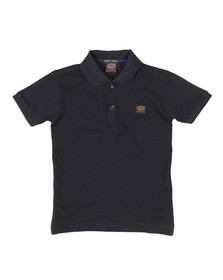 Paul & Shark Cadets Boys Blue Plain Polo Shirt