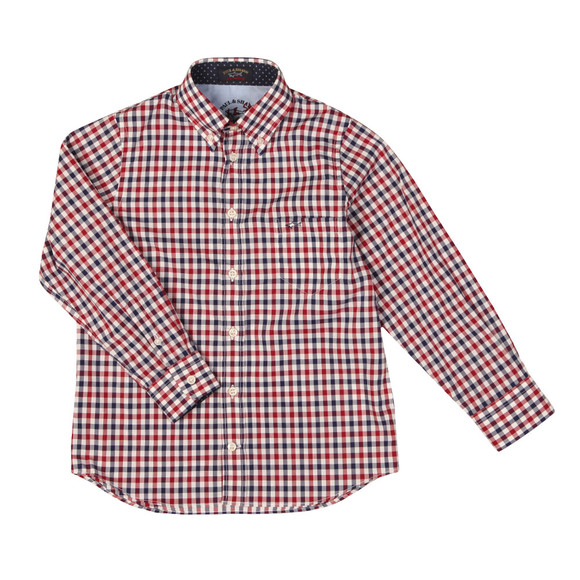 Paul & Shark Cadets Boys Multicoloured Check LS Shirt main image