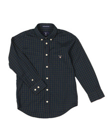 Gant Boys Blue Windblown Oxford Check Shirt
