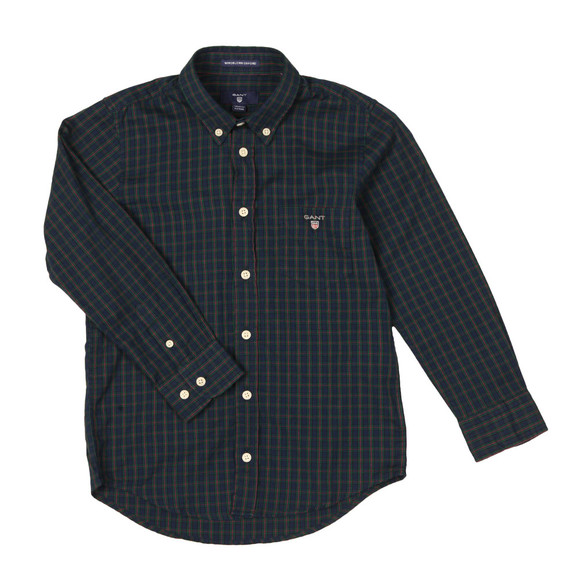 Gant Boys Blue Windblown Oxford Check Shirt main image