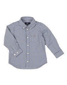 Gant Boys Blue Baby Archive Broadcloth Gingham Shirt