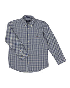 Gant Boys Blue Archive Broadcloth Gingham Shirt