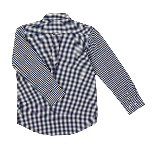 Gant Boys Blue Archive Broadcloth Gingham Shirt main image