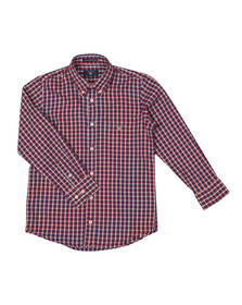Gant Boys Brown Windblown Oxford Check Shirt