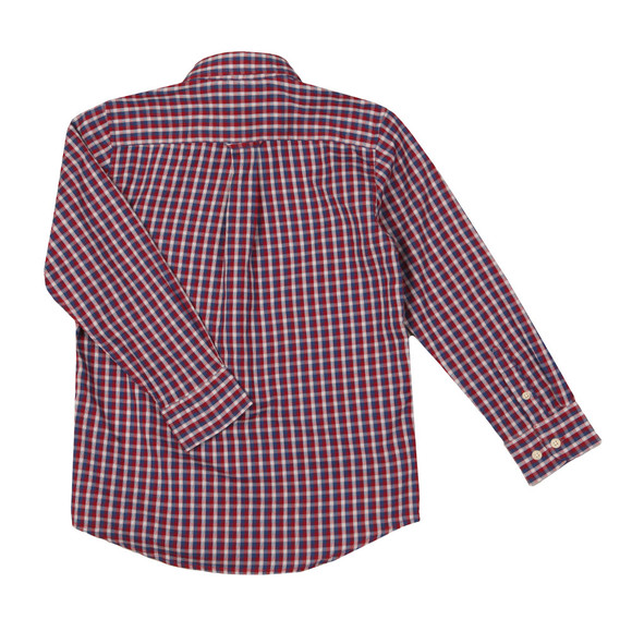 Gant Boys Brown Windblown Oxford Check Shirt main image