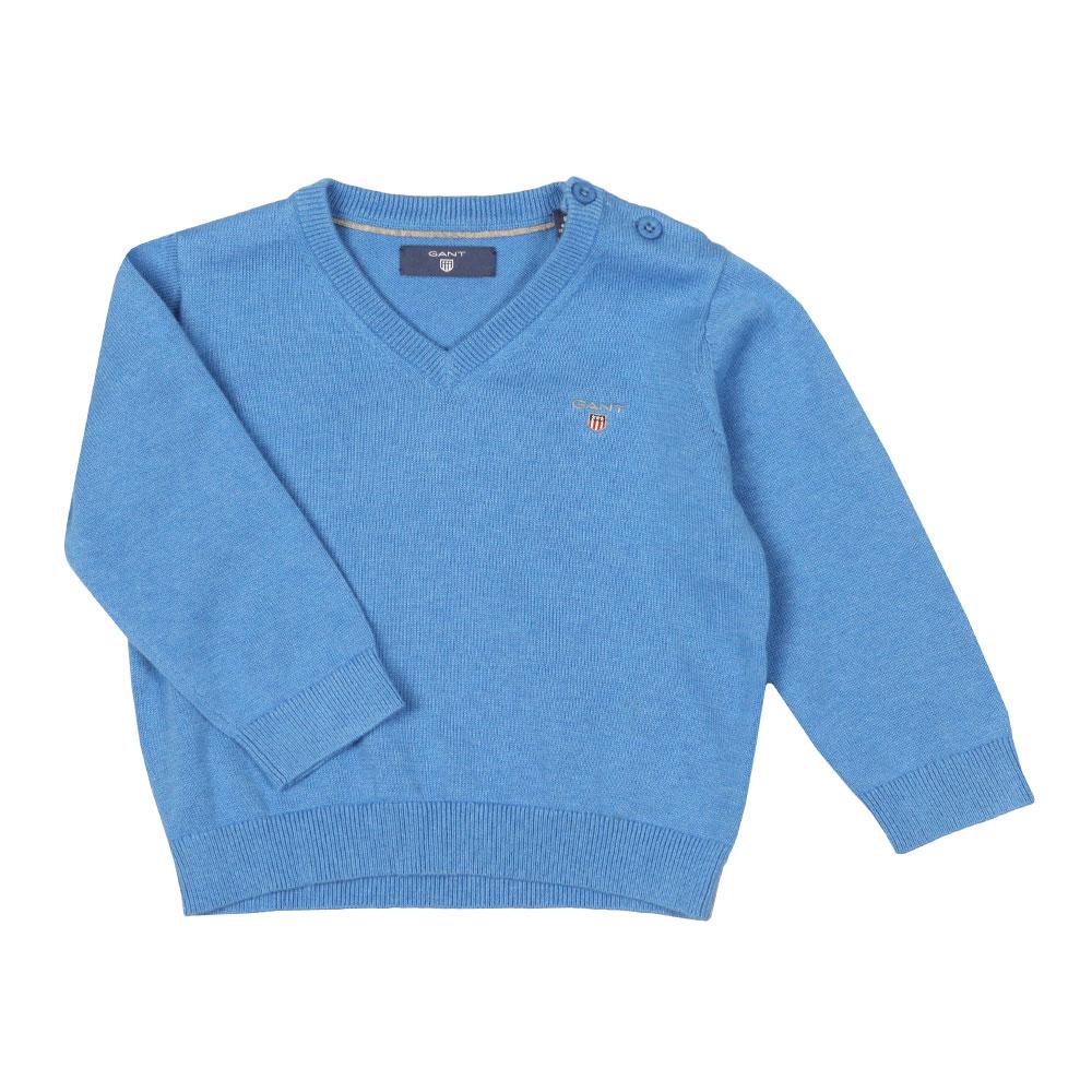 4f5a373599d Gant Baby Light Weight Cotton V Neck Jumper | Masdings