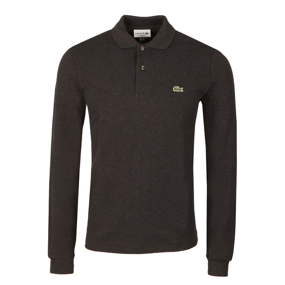 Lacoste Mens Grey L1313 Long Sleeve Polo main image