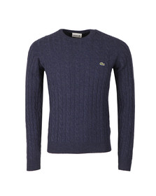 Lacoste Mens Blue AH7069 Cable Jumper