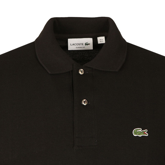 Lacoste Mens Black L1312 L/S Polo