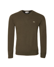 Lacoste Mens Green AH2995 Crew Neck Jumper