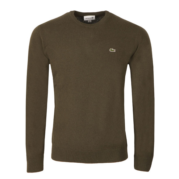 Lacoste Mens Green AH2995 Crew Neck Jumper main image