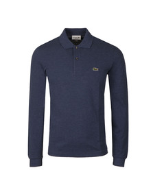 Lacoste Mens Blue L1313 Long Sleeve Polo