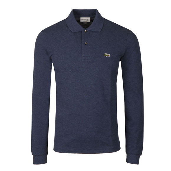 Lacoste Mens Blue L1313 Long Sleeve Polo main image