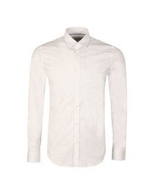 Lacoste Mens White CH9628 LS Slim Stretch Shirt