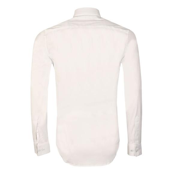Lacoste Mens White CH9628 LS Slim Stretch Shirt main image