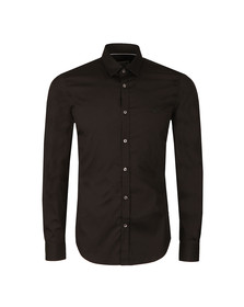 Lacoste Mens Black CH9628 LS Slim Stretch Shirt