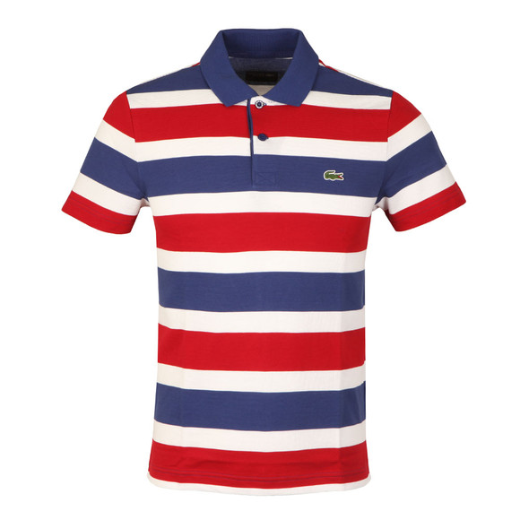 Lacoste Sport Mens Blue S/S YH8129 Stripe Polo main image