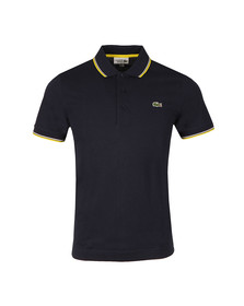 Lacoste Sport Mens Blue S/S YH7900 Tipped Polo