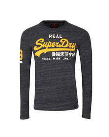 Superdry Mens Blue Vintage Logo Duo LS Tee