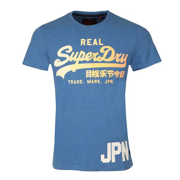 Superdry Mens Blue Vintage Logo 1st Tee main image
