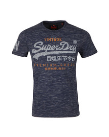 Superdry Mens Blue Premium Goods Duo Tee