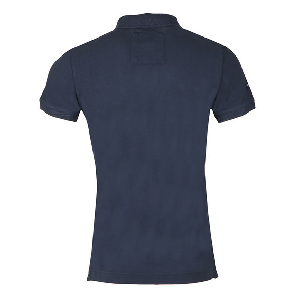 Superdry Mens Blue S/S Vintage Destroy Pique Polo main image
