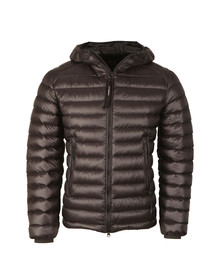 CP Company Mens Black Down Hooded Goggle Puffer Jacket