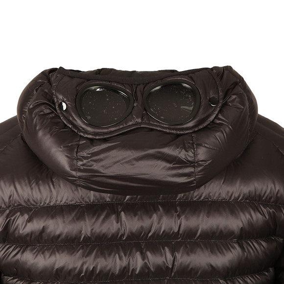 CP Company Mens Black Down Hooded Goggle Puffer Jacket main image