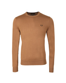 Fred Perry Mens Brown Crew Neck Jumper