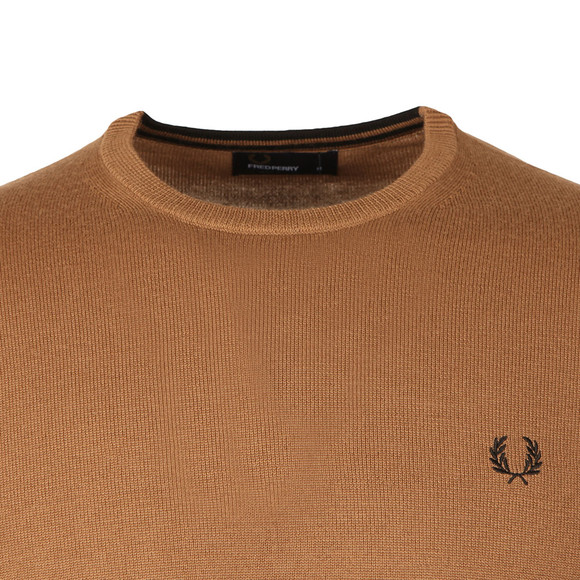 Fred Perry Mens Brown Crew Neck Jumper main image