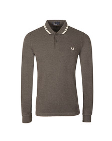 Fred Perry Mens Grey L/S Tipped Polo