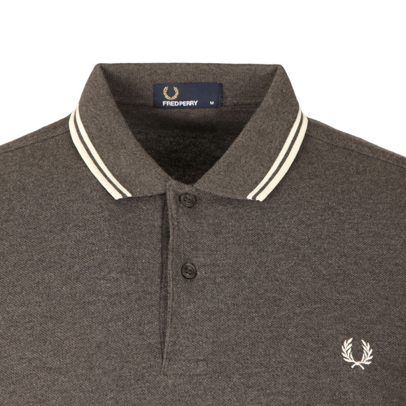 Fred Perry Mens Grey L/S Tipped Polo main image