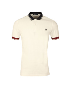 Fred Perry Mens White S/S Ribbed Trim Polo