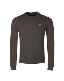 CP Company Mens Black Slim Fit Long Sleeve T Shirt