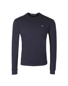 CP Company Mens Blue Slim Fit Long Sleeve T Shirt