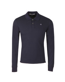 CP Company Mens Blue Slim Fit Long Sleeve Polo Shirt