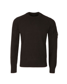 CP Company Mens Black Crew Neck Knitted Jumper