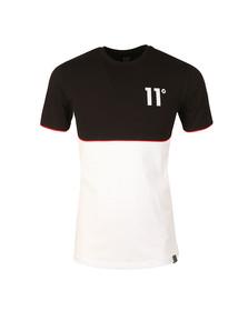 Eleven Degrees Mens Black Curved Hem Cut & Sew T Shirt