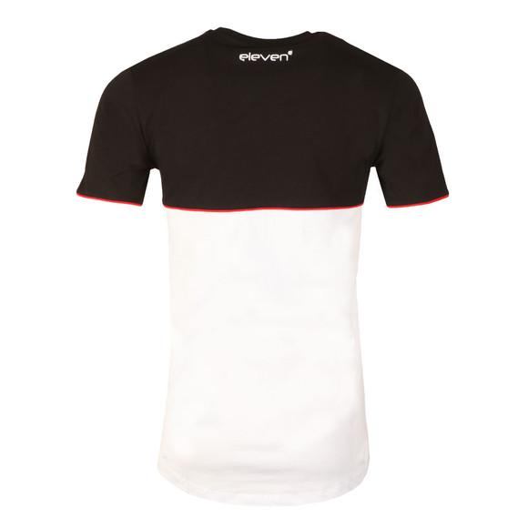 Eleven Degrees Mens Black Curved Hem Cut & Sew T Shirt main image