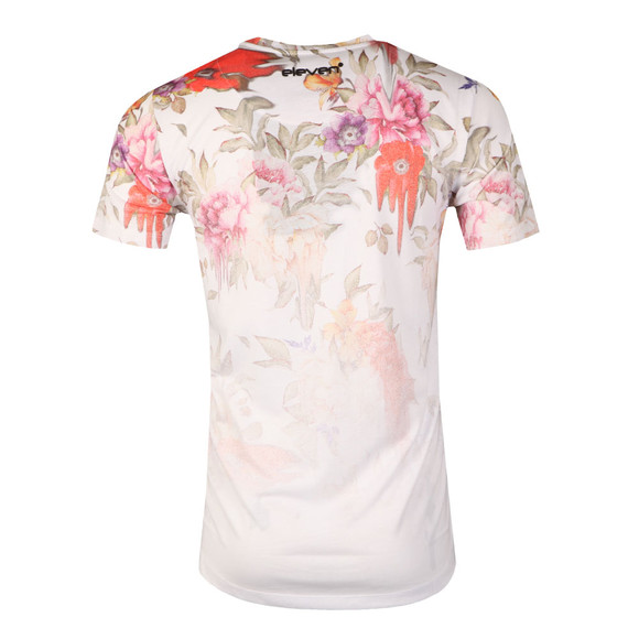 Eleven Degrees Mens White Dripping Floral Sub Tee main image