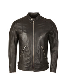 Diesel Mens Black L-Marton Leather Jacket