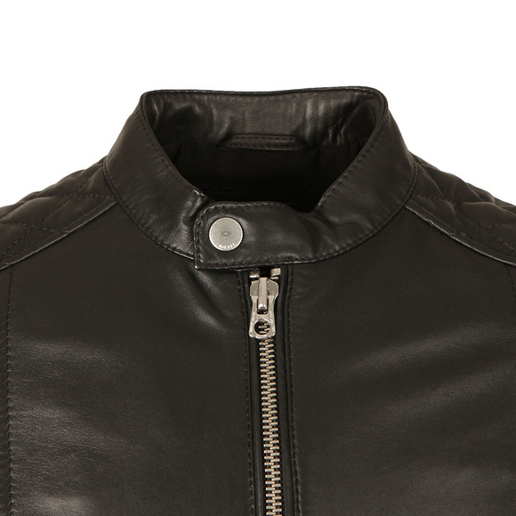 Diesel Mens Black L-Marton Leather Jacket main image