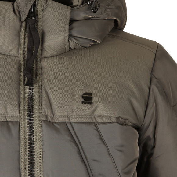 G-Star Mens Grey Whistler Hooded Bomber main image