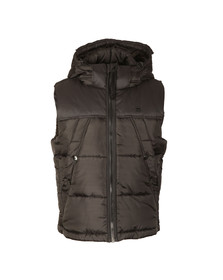 G-Star Mens Black Whistler Hooded Gilet