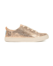 Toms Girls Pink Lenny Crackle Foil Trainer