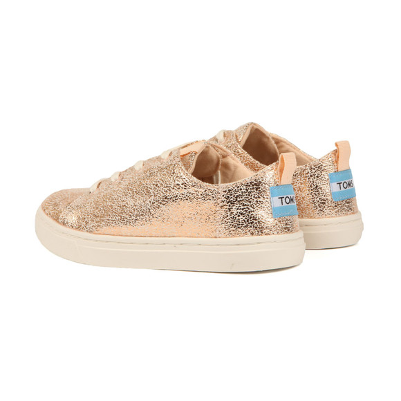Toms Girls Pink Lenny Crackle Foil Trainer main image